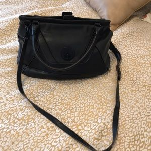 Elliott Luca green leather handbag